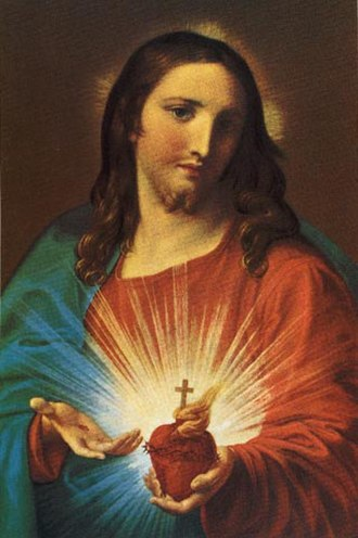 Sacred Heart - Sacred Heart of Jesus by Pompeo Batoni, 1767
