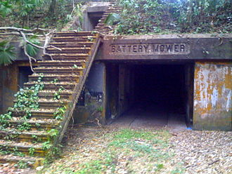 Fort Sherman - Ruins of Coastal Defence Artillery, Battery Mower, at Ft. Sherman