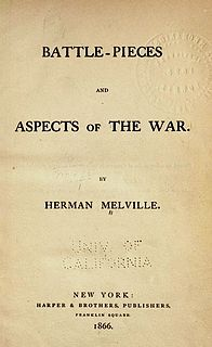 <i>Battle-Pieces and Aspects of the War</i> poetry book by Herman Melville