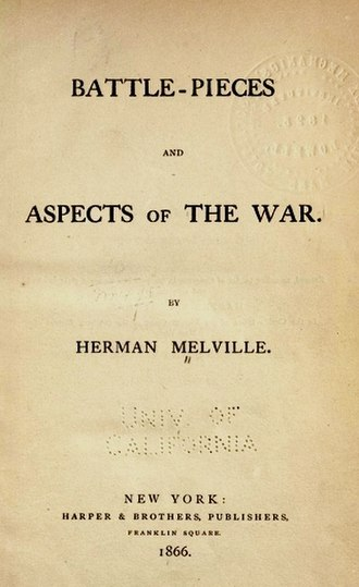 Battle-Pieces and Aspects of the War - Image: Battle Pieces Title Page
