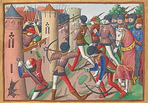 Battle of Jargeau - Battle of Jargeau, miniature from Vigiles du roi Charles VII