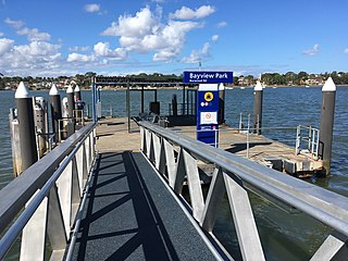 Bayview Park ferry wharf Commuter wharf in Sydney, New South Wales, and site of a historic Canadian patriote convict landing