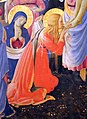 Beato angelico, pala strozzi della deposizione, con cuspidi e predella di lorenzo monaco, 05.JPG
