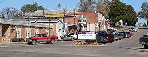 Beemer, Nebraska - Downtown Beemer: West side of Main Street, looking north from U.S. Highway 275
