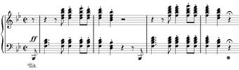 The opening bars of the Hammerklavier sonata