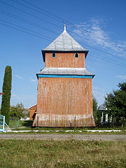 Bell tower of Saint George church, Skvariava (02).jpg