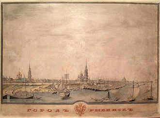 Rybinsk - General view of Rybinsk in the 1820s