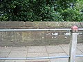 Bench mark on the City Walls - geograph.org.uk - 450471.jpg