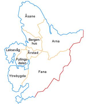 Åsane - Image: Bergen boroughs
