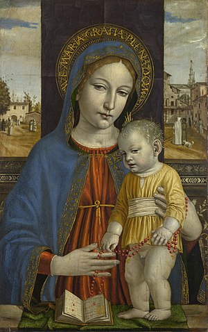 Ambrogio Bergognone - Image: Bergognone, Madonna col Bambino