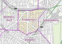 Berlin-Friedenau-Geografi-Fil:Berlin-Friedenau Karte