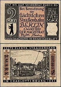 Berlin-Straßenbahn Charlottenburg 2 Mark.jpg