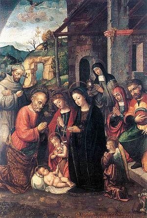 Bernardino Fasolo - Nativity, 1526, now at the Musei Civici di Pavia