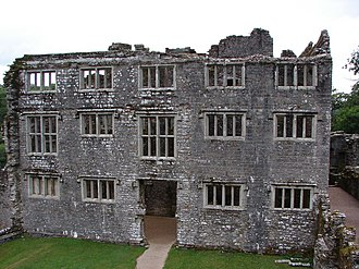 Berry Pomeroy Castle - The shell of the early Seymour house