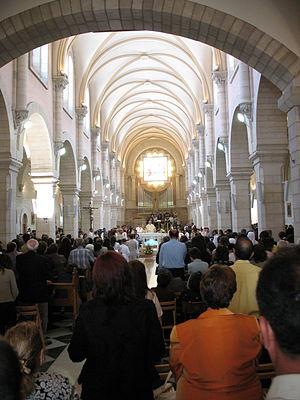 Church of Saint Catherine, Bethlehem - Image: Bethlehem Catholic Mass 1633 (507880881)