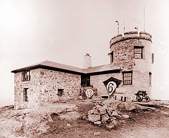 Blue Hill Meteorological Observatory - View of the observatory in 1897