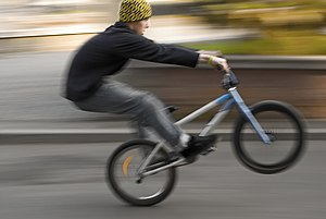 Wheelie - Manual on a BMX bike