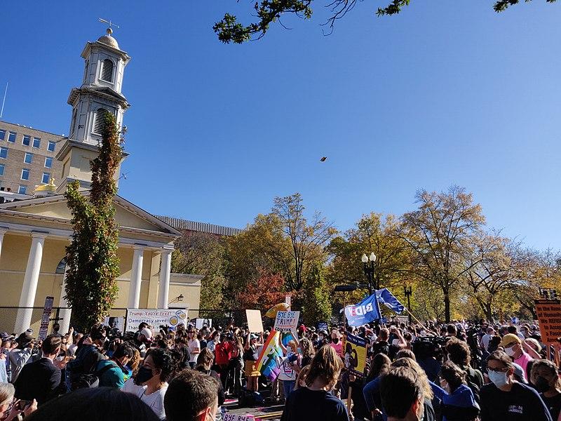 File:Biden victory celebration at Black Lives Matter plaza, Washington, D.C..jpg