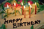 Birthday cake with seven candles.jpg