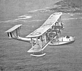 Il Blackburn Iris Mk III S1263 in volo