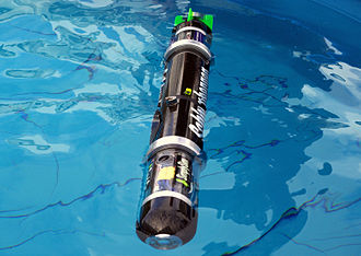 Autonomous underwater vehicle - The Blackghost AUV is designed to undertake an underwater assault course autonomously with no outside control.