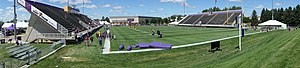 Blakeslee Stadium - Blakslee Stadium is located in the south of campus and is the home field of the Minnesota State Mavericks Division 2 Football team.