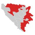 Blank map of Bosnia and Herzegovina, Republika Srpska highlighted.png