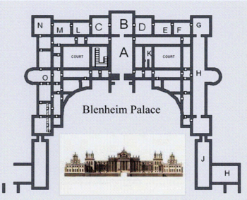 Floor plan of Blenheim Palace