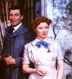 Cropped screenshot of Walter Pidgeon and Greer...