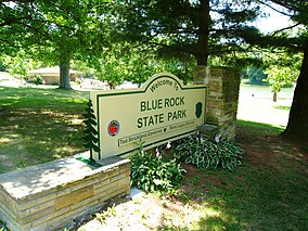Blue Rock State Park main entrance sign.JPG