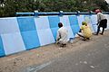 Blue and White Painting - Chingrighata Flyover - Kolkata 2013-11-28 0878.JPG