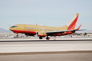 History of Southwest Airlines - Boeing 737-700 at McCarran International Airport, Las Vegas