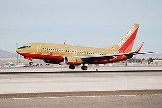History of Southwest Airlines - Boeing 737-700 at McCarran International Airport, Las Vegas