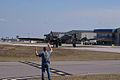 Boeing B-17G-85-DL Flying Fortress Nine-O-Nine Landing Taxi 10 CFatKAM 09Feb2011 (14797240639).jpg