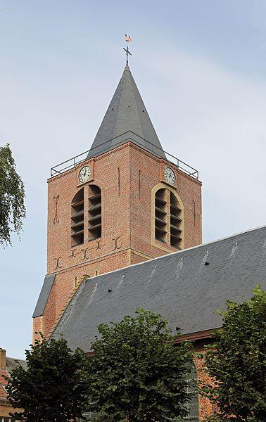 Boeschepe (département du Nord, France): bell tower of St Martin's church