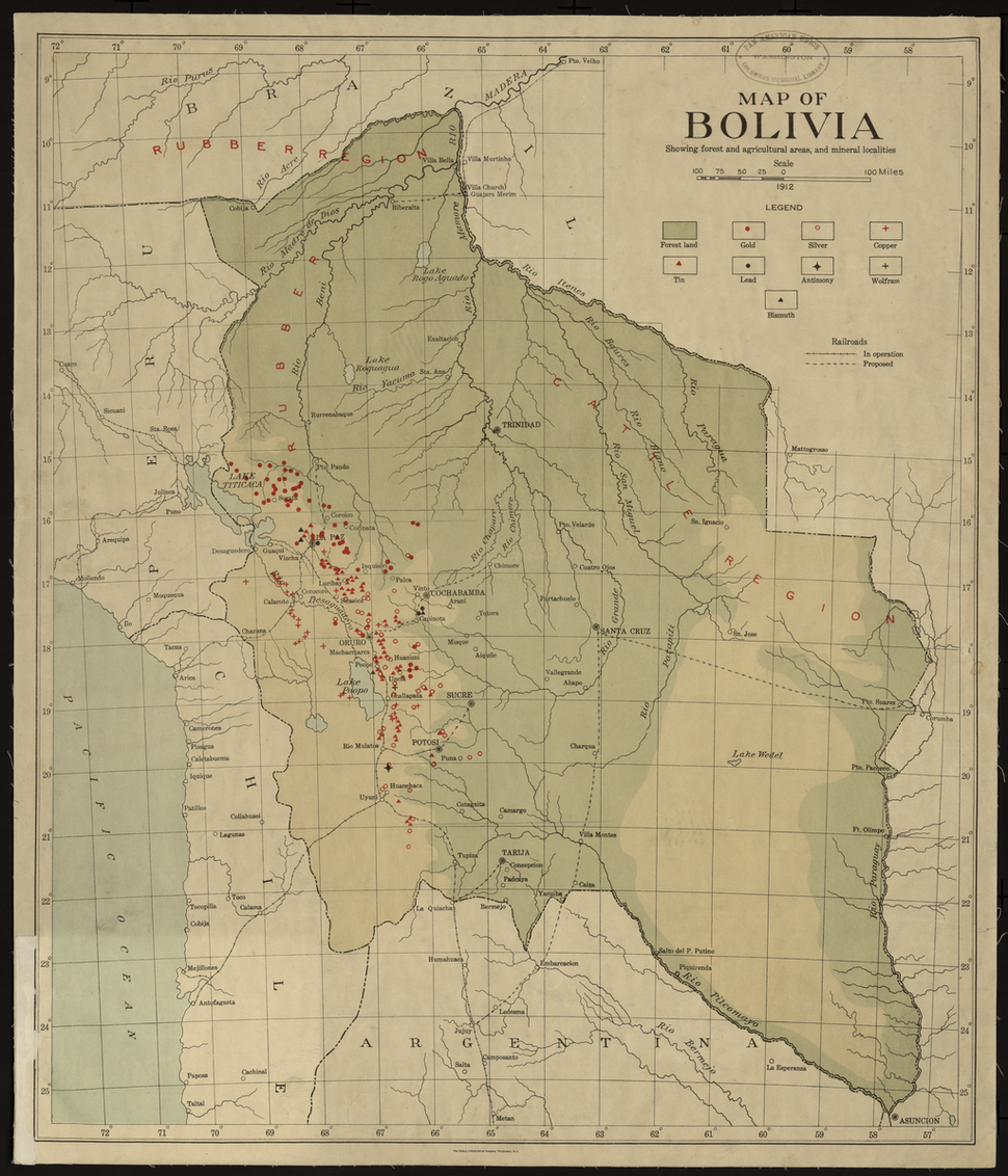 Bolivia Resource Map