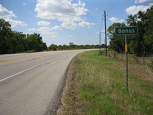 Bonus, Texas - Image: Bonus TX Sign