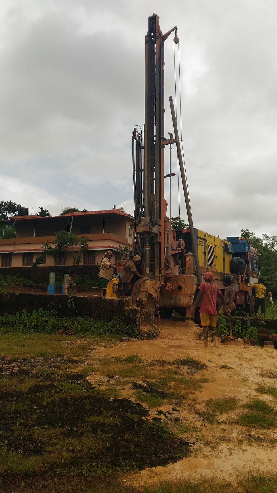Borewell digging