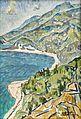 Boris Arakcheev 1973 Caucasus. The sea and the mountains 55 x 39 cm Oil on Cardboard.jpg