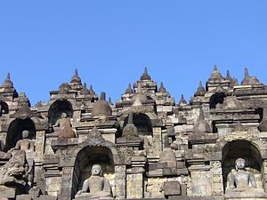 Buddhism in Indonesia - Borobudur Temple Compounds, located in Central Java, Indonesia