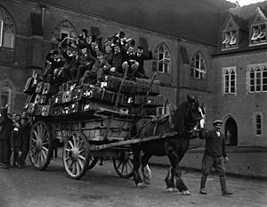 Ardingly College - Boys about to depart for the Michaelmas break at Ardingly in the late 19th century