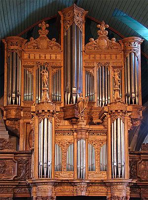 Dallam family - Organ by Thomas Dallam II at Guimiliau (1677).
