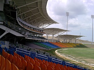 Brian Lara Cricket Academy - View across the stands in the Brian Lara Stadium