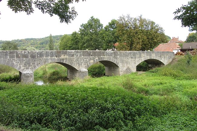 Bridge Tauberscheckenbach (Middle Franconia) from the South 2
