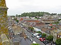 Bridport on market day, from St Mary's church tower - geograph.org.uk - 126345.jpg