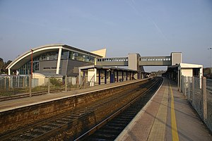 Bristol Parkway railway station - A view of Bristol Parkway station from the west.