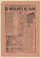 Broadsheet with a caricature of a horseman and his horse and a group of men playing billiards MET DP868034.jpg