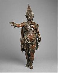 Bronze statuette of a boy in Eastern dress