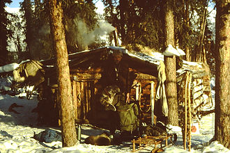 Trapline - A photo of a modern trapper's cabin from the Brooks Range in Alaska