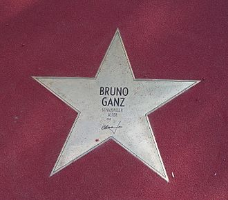 Bruno Ganz - Star on the Boulevard of the Stars in Berlin